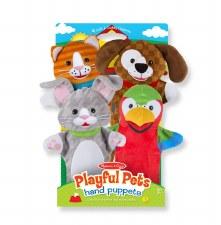 Melissa & Doug Hand Puppets- Playful Pets