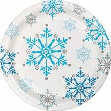 Snowflake Swirls Dessert Plates - 8ct.
