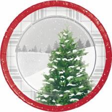 Winter Trees Dessert Plates - 8ct.