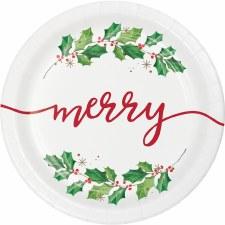 Seasons Greetings Dinner Plates - 8ct.