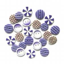 Button Fusion Buttons- Plum Crazy