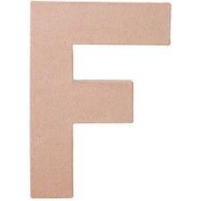 """8"""" Paper Mache Letter- F"""