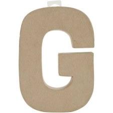 "8"" Paper Mache Letter- G"
