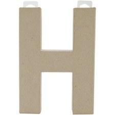 "8"" Paper Mache Letter- H"