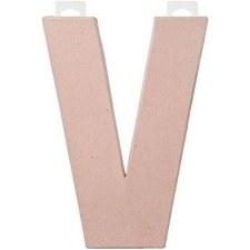 """8"""" Paper Mache Letter- V"""