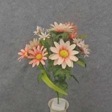 """Daisy Mixed Bush, 18.5""""- Pink/Peach"""