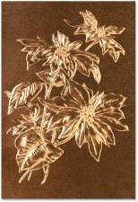 3D Embossing Folder- Poinsettia