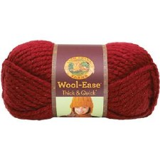 Wool Ease Thick & Quick Yarn- Metallic- Poinsettia