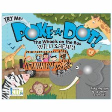 Poke-A-Dot! Book- The Wheels On The Bus: Wild Safari