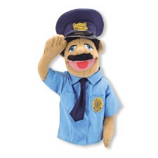 Melissa & Doug Hand Puppet- Police Officer