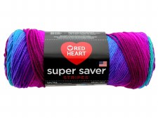 Red Heart Super Saver Yarn, Stripes- Polo
