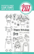 Avery Elle Peek a Boo Polar Pals Clear Stamps