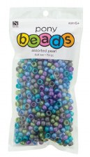 Nicole Pony Beads, 750ct- Pearl Assortment, Dark Colors
