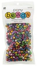 Nicole Pony Beads, 600ct- Metallic Assortment