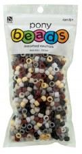 Nicole Pony Beads, 750ct- Opaque Assortment, Neutrals