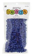Nicole Pony Beads, 750ct- Opaque Blue