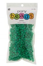 Nicole Pony Beads, 750ct- Opaque Green