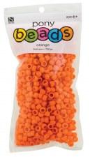Nicole Pony Beads, 750ct- Opaque Orange