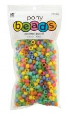 Nicole Pony Beads, 750ct- Opaque Assortment, Pastel