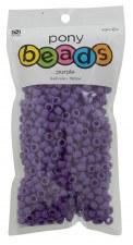 Nicole Pony Beads, 750ct- Opaque Purple