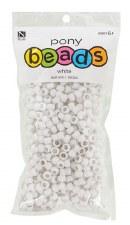 Nicole Pony Beads, 750ct- Opaque White