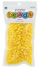 Nicole Pony Beads, 750ct- Opaque Yellow