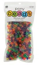 Nicole Pony Beads, 750ct- Translucent Assortment