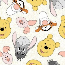 Pooh & Friends Bolted Fabric- Toss