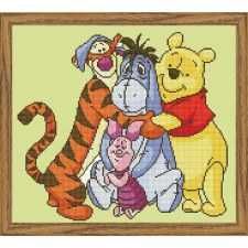 Diamond Facet Art Kit- Disney, Pooh & Friends Portrait