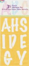 """Delta Alphabet Stencils, 3.5""""- Poster Uppercase"""