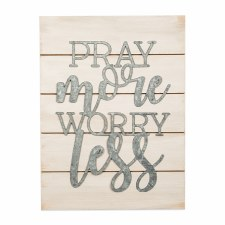 Pallet Decor- Pray More Worry Less