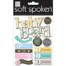 MAMBI Soft Spoken Stickers- Baby- Baby On Board