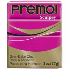 Sculpey Premo Polymer Clay - Fuchsia 2oz