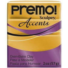 Sculpey Premo Polymer Clay - 18K Gold