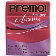 Sculpey Premo Polymer Clay - Red Glitter  2oz