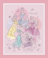 Licensed Fabric Panel- Pretty Princesses