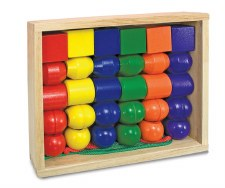 Melissa & Doug Wooden Toy- Primary Lacing Beads