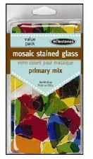 Mosaic Stained Glass Pieces, 20oz- Primary