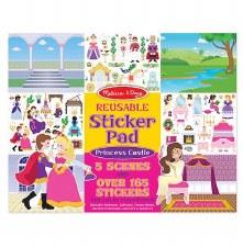 Melissa & Doug Reusable Sticker Pad- Princess Castle