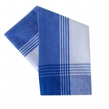 "McLeod Stripe 20""x28"" Tea Towel- White & Provincial Blue"