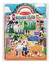 Melissa & Doug Reusable Puffy Sticker Kit- Riding Club