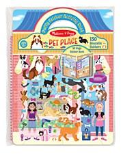 Melissa & Doug Reusable Puffy Sticker Kit- Pet Places