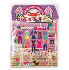 Melissa & Doug Reusable Puffy Sticker Kit- Dress Up