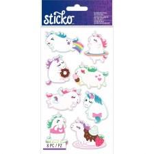 Sticko Dimensional Stickers- Unicorns