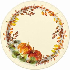 Watercolor Fall  Dessert Plates 8ct. 7 inches.
