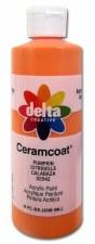 Delta Ceramcoat Acrylic Paint, 8oz- Pumpkin