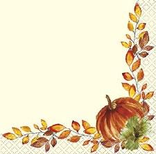 Watercolor Fall Napkins, Beverage 16ct