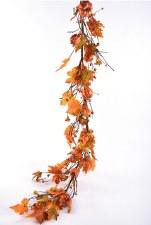 Pumpkin Bittersweet Garland 5'