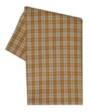 "Checkerpane 20"" x 28"" Tea Towel- Pumpkin"