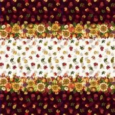 Pumpkin Harvest Bolted Fabric- Border